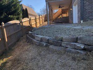 knoxville backyard retaining wall