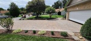 flagstone driveway