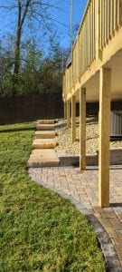 patio and deck in knoxville backyard