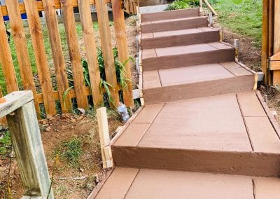 outdoor stairs in backyard in knoxville tn