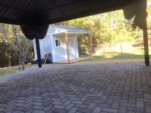 back patio and pergola