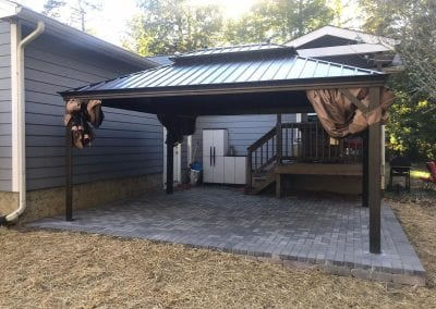back patio and pergola