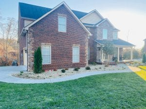 knoxville home after landscaping work