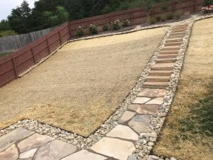 flagstone stairway in knoxville yard