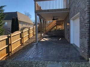 brick walkway in knoxville home