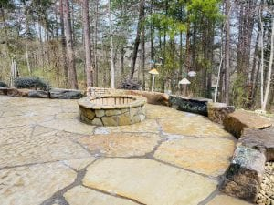 flagstone fireplace