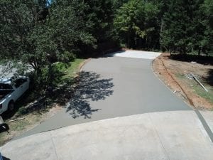 paved driveway under construction