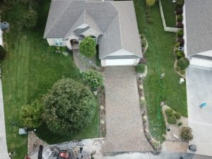 aerial view of knoxville driveway and walkway