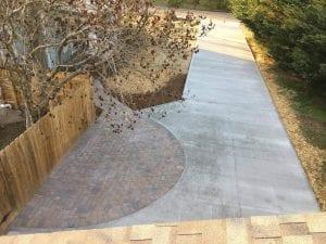 paved concrete driveway